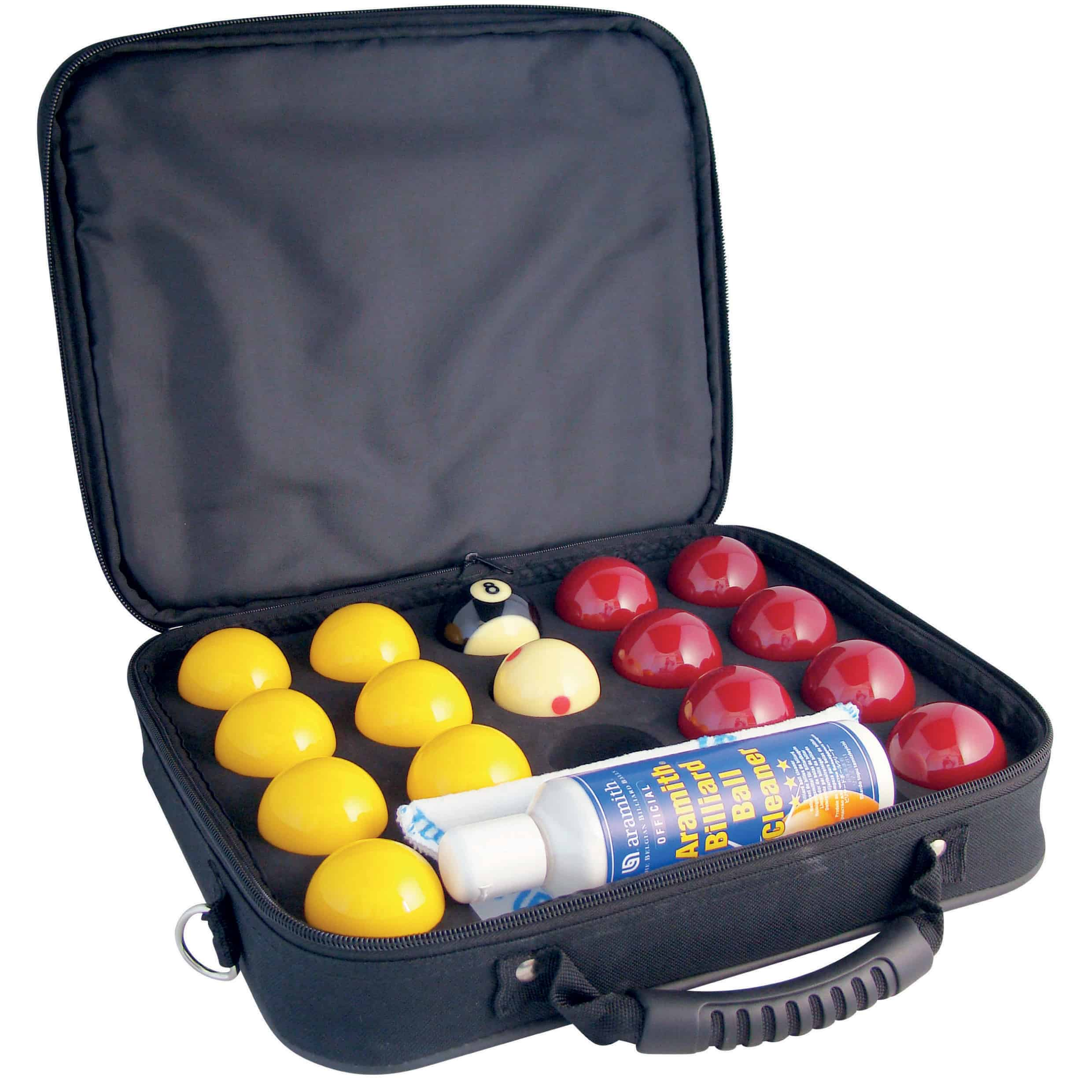 Super Aramith ProCup 2 inch Pool Balls & Embroidered Ball Case