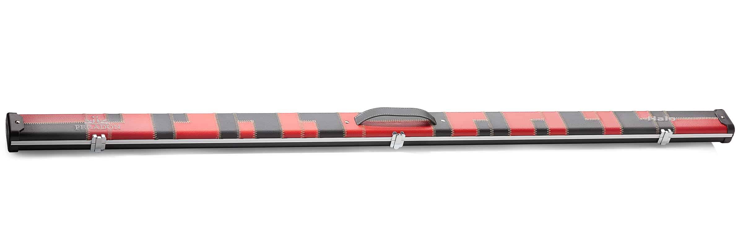 Peradon Halo 1 Piece Snooker Black Red Patch Wide Cue Case