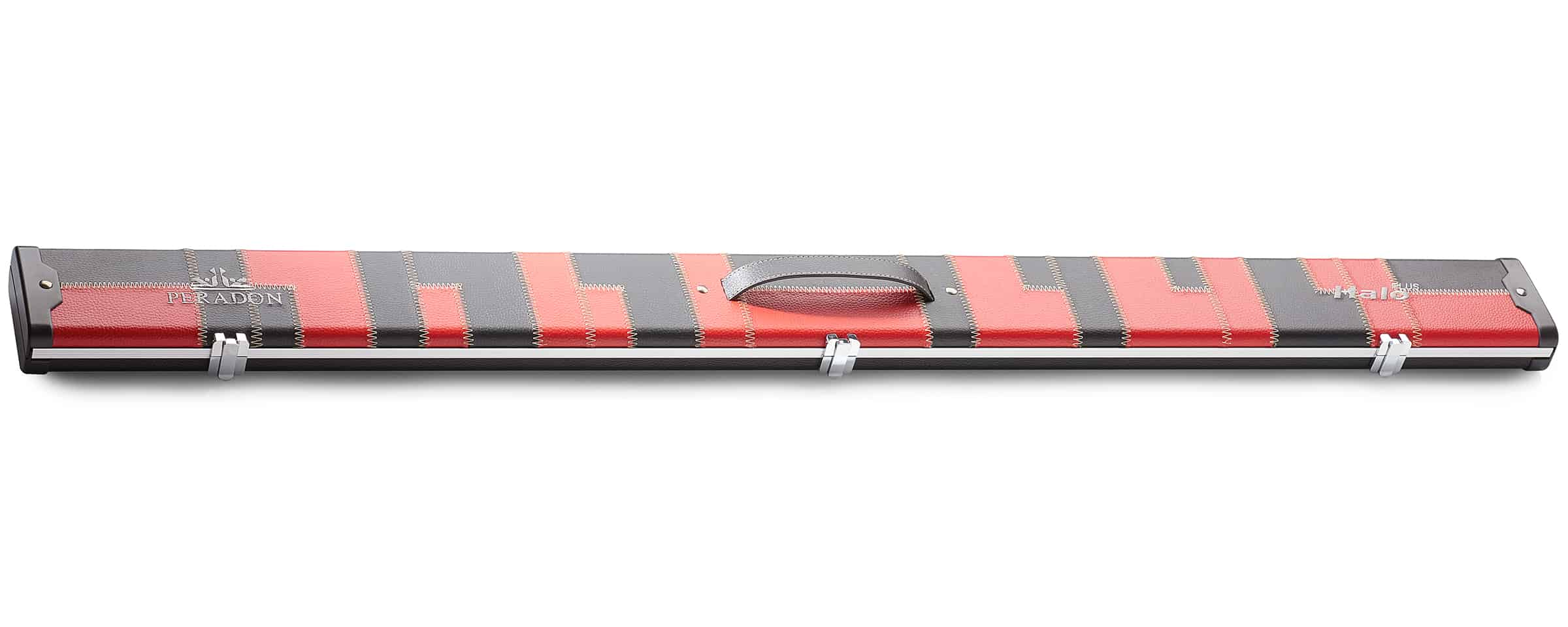 Peradon Halo Plus Black Red Patch 3/4 Jointed Extra Wide Snooker Cue Case