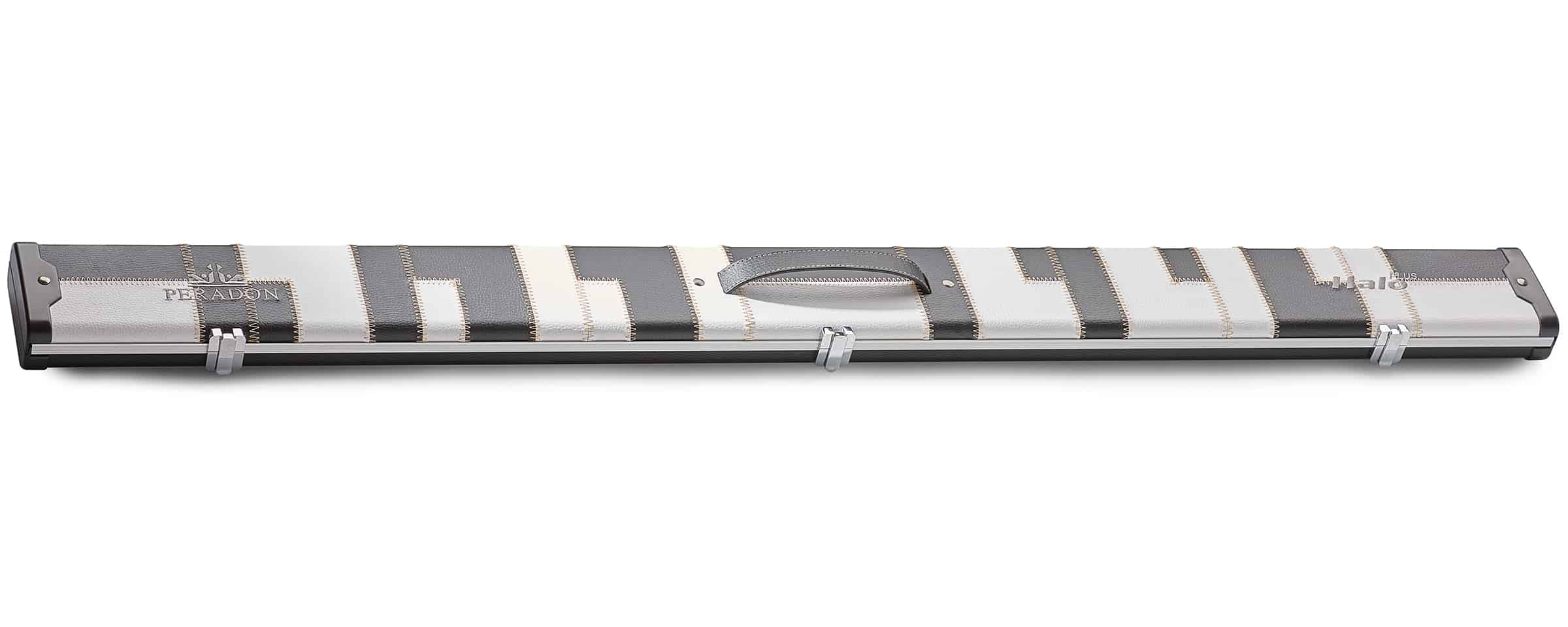 Peradon Halo Plus Black White Patch ¾ Jointed Extra Wide Snooker Cue Case