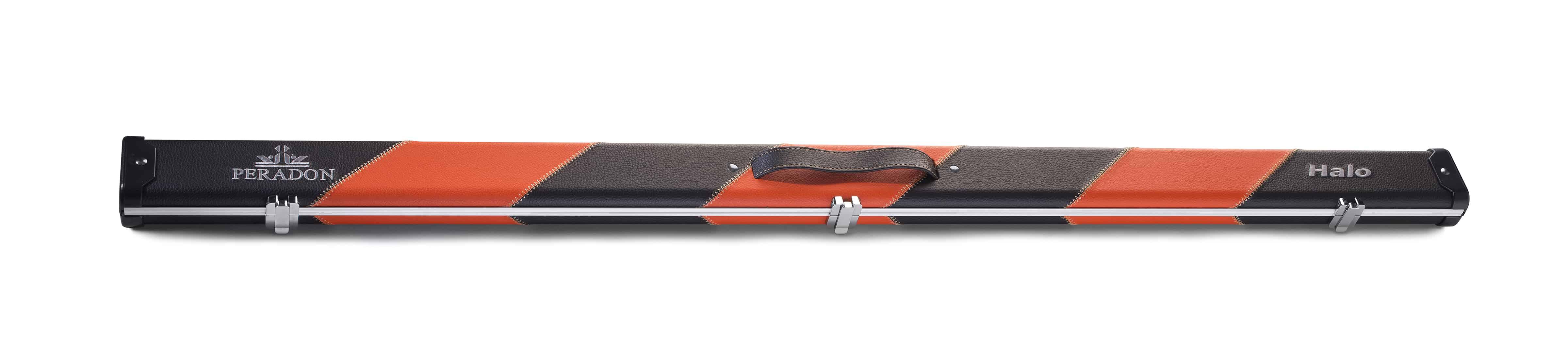 Peradon Halo Black Orange Stripe ¾ Snooker Cue Case